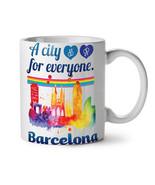 Gay Pride Love Barcelona NEW White Tea Coffee Mug 11 oz | Wellcoda - $15.99