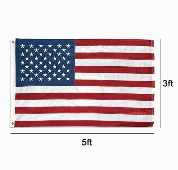 3'x5' Betsy Flags United States Flags Brass Grommets Nylon Sewn Embroidered SEAL