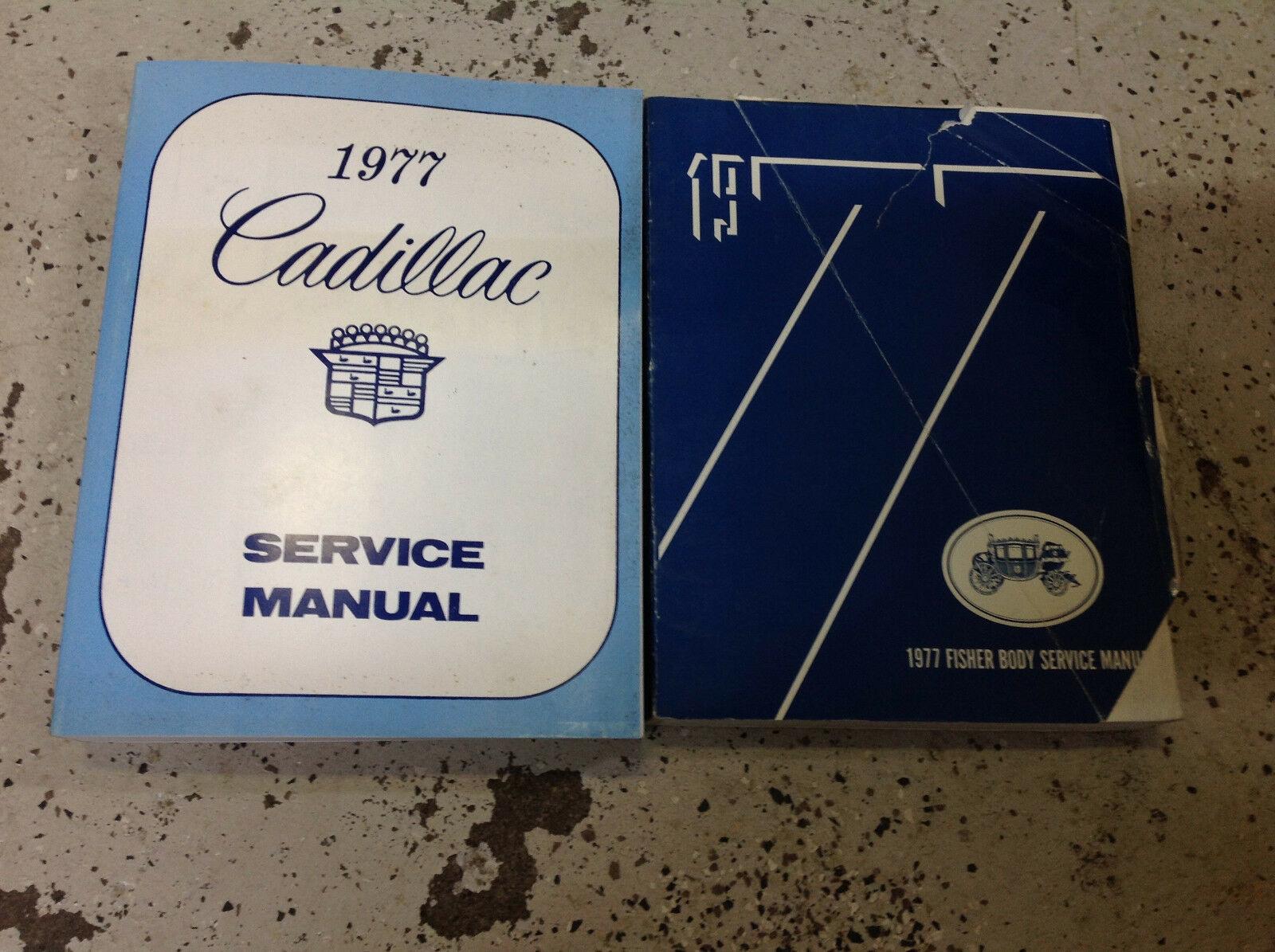 1977 Cadillac Eldorado Fleetwood Deville Shop Service Reparatur Manuell Set