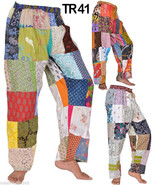 10 Cotton Printed Patchwork Straight Trousers Pants Lounge wear Wholesal... - $84.55