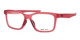 Authentic Oakley Eyeglasses Fenceline OX8069 1053 Frosted Red RX-ABLE 53MM - $89.09