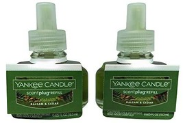 Yankee Candle Balsam & Cedar Scentplug 2 Pack Oil Refill Electric Home F... - $19.99