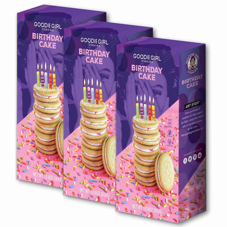 Goodie Girl Cookies Birthday Cake Sandwich Cookies, Gluten