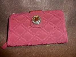 Vera Bradley turnlock wallet in Raisin - $34.00
