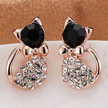Glamourous Cat Earrings ** (12760) >> Combined Shipping - $4.00