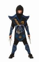 NEW Blue Battle Ninja Warriors Child Halloween Costume Boys Small 4-6 Ru... - €20,10 EUR