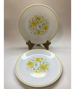 "Corelle April Pattern Two 8-1/2"" Luncheon Bread Plates Yellow Flowers Co... - $9.37"