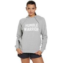Spiritual Gangster Gray Cotton Humble Warrior Raglan Sleeve Hooded Sweat... - $50.00