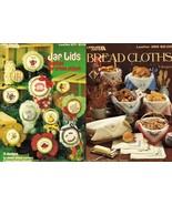 2X Cross Stitch 11 Jar Lids & 9 Bread Cloths Pattern Leaflets - $11.99