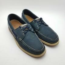 Sebago Docksides Men's Navy Blue Leather Boat Shoes Size 12 M - $34.87