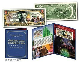WIZARD OF OZ Cast Genuine U.S. $2 Bill in SPECIAL 8x10 COLLECTIBLE GIFT ... - $19.75