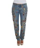 Dolce & Gabbana Crystal Roses Heart Embellished Jeans 1932742 - $2,460.32