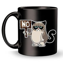 Funny Grumpy Cat Coffee Mug - Rude Cats Travel Ceramic Cup for Birthdays... - $14.95+