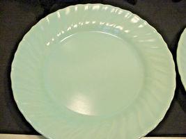 Franciscan Coronado Aqua Matte 4 Luncheon Plates Blue image 3