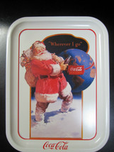 Coca Cola Metal  Santa Tray - New - Replica - $6.93