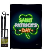 Saint Pat Neon - Impressions Decorative Metal Garden Pole Flag Set GS137... - $27.97