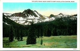 Vtg postale taylor summit near karst's camp galliton canyon montana curt teich - $11.35