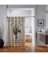 Farmhouse SAWYER MILL CHARCOAL WINDMILL SHOWER CURTAIN 72X72 Lodge Cabin... - $38.56