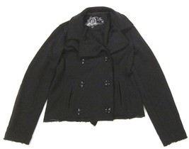 Womens GAP Sweatshirt Jacket Peacoat in Black sz M - $22.87