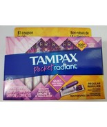 Tampax Pocket Radiant Regular Compact Tampons Travel Size Unscented - $7.92