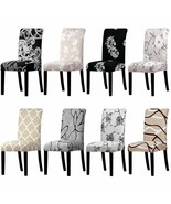 Chair Cover Spandex Fabric Long Back Decor For Restaurant Hotel Party Sl... - $6.55+