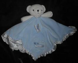 Carter's Bébé Doux Ours en Peluche Bleu Sécurité Couverture Hochet Animal - $27.71