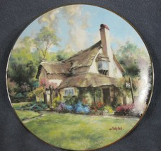 Periwinkle Tea Rooms Collector Plate English Country Cottages Marty Bell... - $27.95