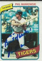 Phil Mankowski 1980 Topps Autograph #216 Tigers - $18.58