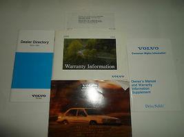 1995 Volvo Owners Manuell Schutzhülle Garantie Information Händler Verzeichnis image 6