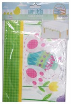 Momentum Brands Party Supplies Table Cover White+Green+Yellow+Pink Easter Decor - $3.27