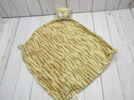 EUC Angel Dear Plush Tiger Tan Brown Striped Security Blanket Lovey - $9.89