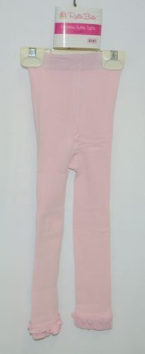 RuffleButts RLKPI2T0000 Pink Ruffle Footless Tights Size 2T to 4T