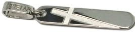 Pendentif Croix Karisma en or Blanc 18K 750 A Plaque Gravé Fabriqué en I... - $354.88