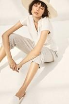 New Anthropologie Akemi+Kin White Poplin Wrap Top Blouse Cotton Size 0 - $38.00