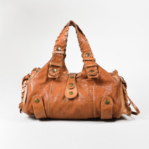 "Chloe Brown Distressed Leather Whipstitch ""Silverado"" Satchel Bag - $165.99"