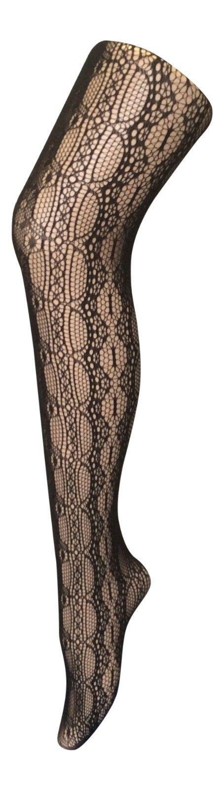 Women's Fancy patterned semi opaque Tights, One size 8-14 uk, 36-42 eu, designer