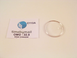 For OMEGA SEAMASTER 32.8mm Date Silver Armoured Watch Glass Crystal Part... - $24.02