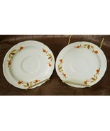 VINTAGE AUTUMN LEAF RUFFLED SAUCERS BY HALL CHINA (CIRCA 1933-1976) - $5.00