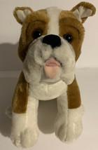 """Build a Bear Bulldog Dog Plush 16"""" Stuffed Animal Brown White Rare - $20.56"""