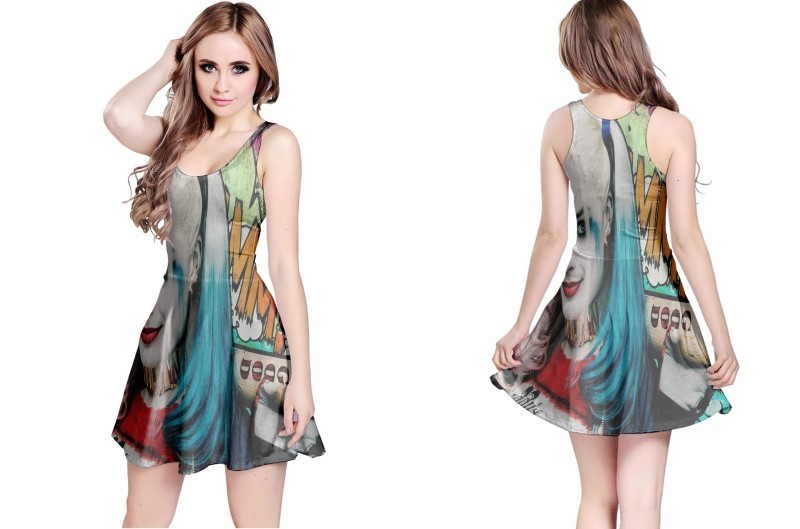 Suicide squad harley quin reversible dress