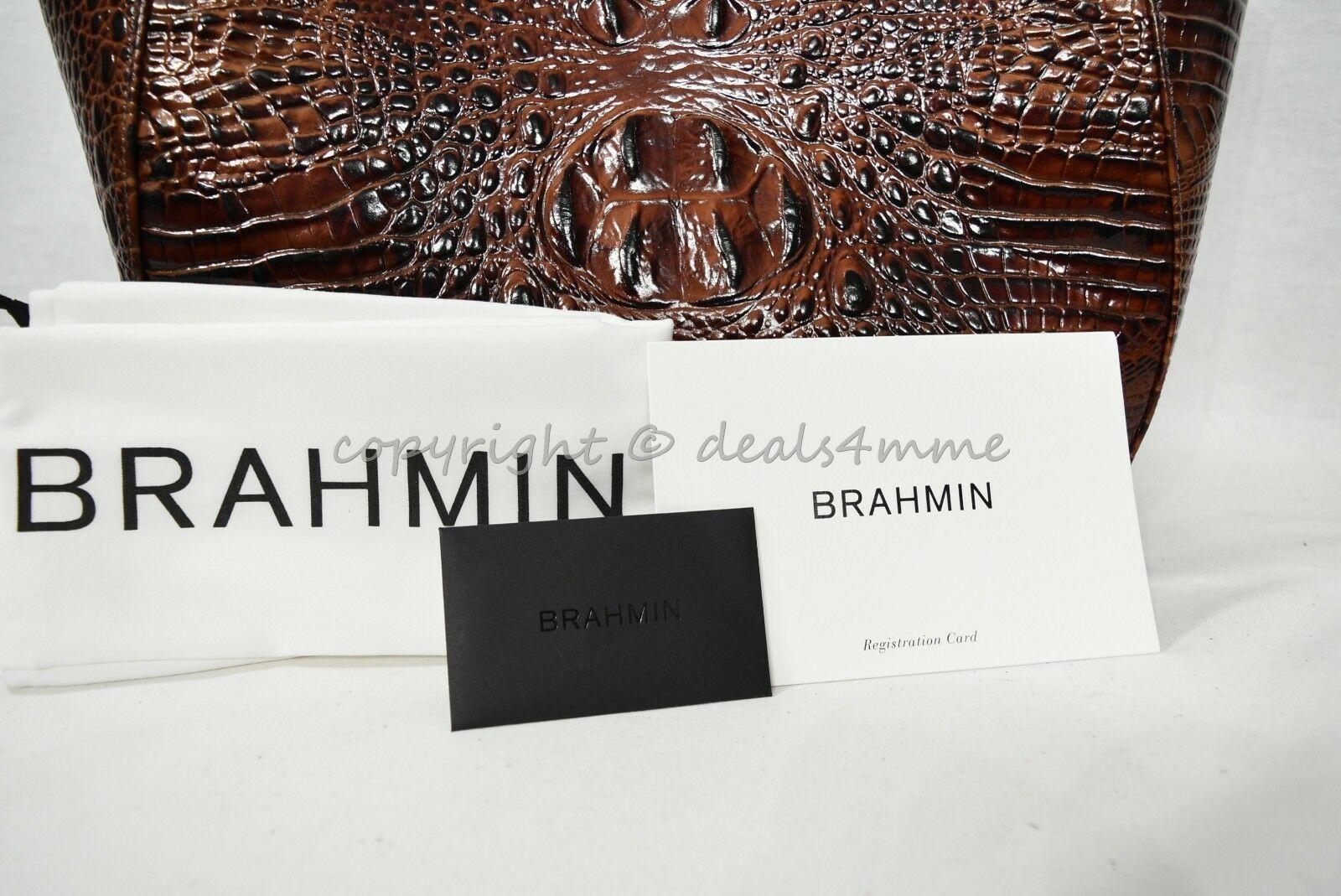 NWT Brahmin Marianna Leather Tote / Shoulder Bag in Pecan Melbourne image 5