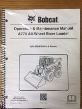 Bobcat A770 Skid Steer Operation & Maintenance Manual Operator/Owners 3 #6990244 - $22.08+