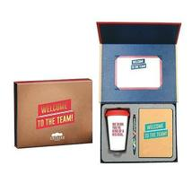 New Employee Welcome Gift Set Kit - Sign able Certificate, Small Bound J... - $121.05