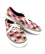 Vans Authentic Women 8 Late Night Hot Pink Cupcakes Sneakers Tennis Shoe... - $49.49