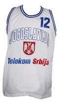 Vlade Divac Jugoslavija Yugoslavia Basketball Jersey Sewn White Any Size image 4