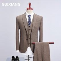 "2018 new style jacket Men single breasted woolen suits Men""s Slim Fit bu... - $144.90"