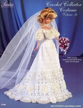 1903 Victorian Lace Bridal Gown for Barbie Paradise Vol. 58 Crochet PATTERN NEW - $7.17