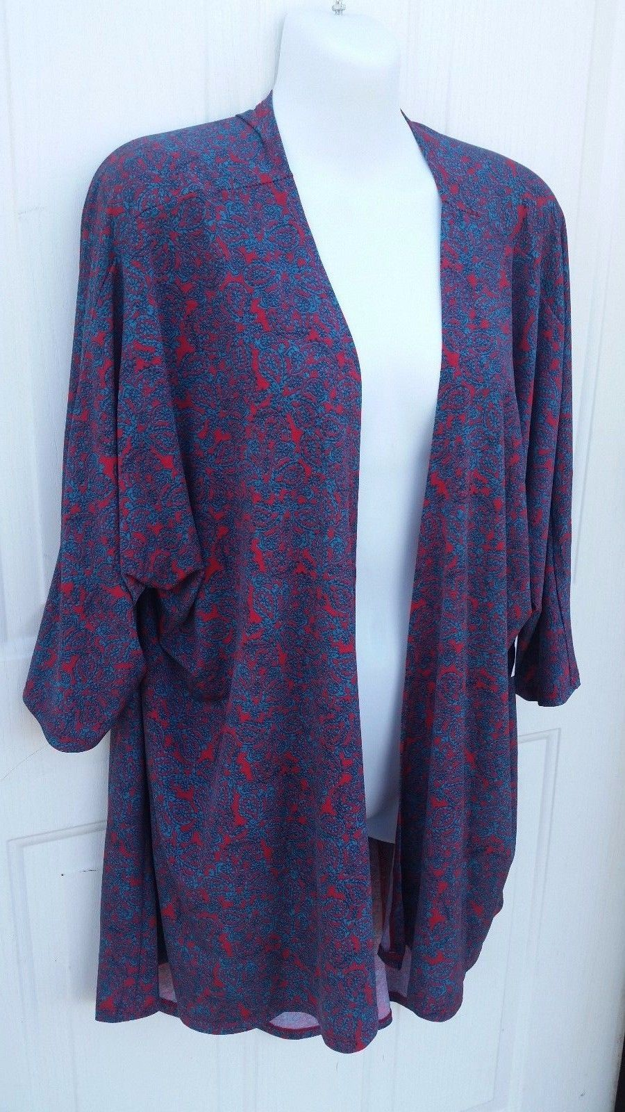 lularoe lindsey medium blue red cover up for and 50 similar items