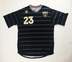 Siege Sports Excelsior Springs SS Soccer Jersey Men's L Black Gray SC100... - $24.75