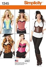 Simplicity Creative Patterns 1345 Misses' Corsets and Ruffled Shrug Sewing Patte - $13.48